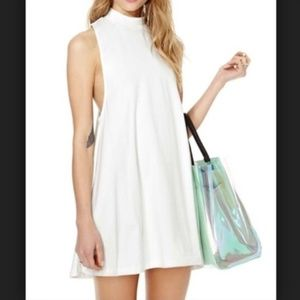 Nasty Gal White Lie Racer Back Mini Dress